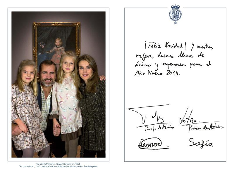 Felicitación de Navidad de SS. AA. RR. los Príncipes de Asturias
