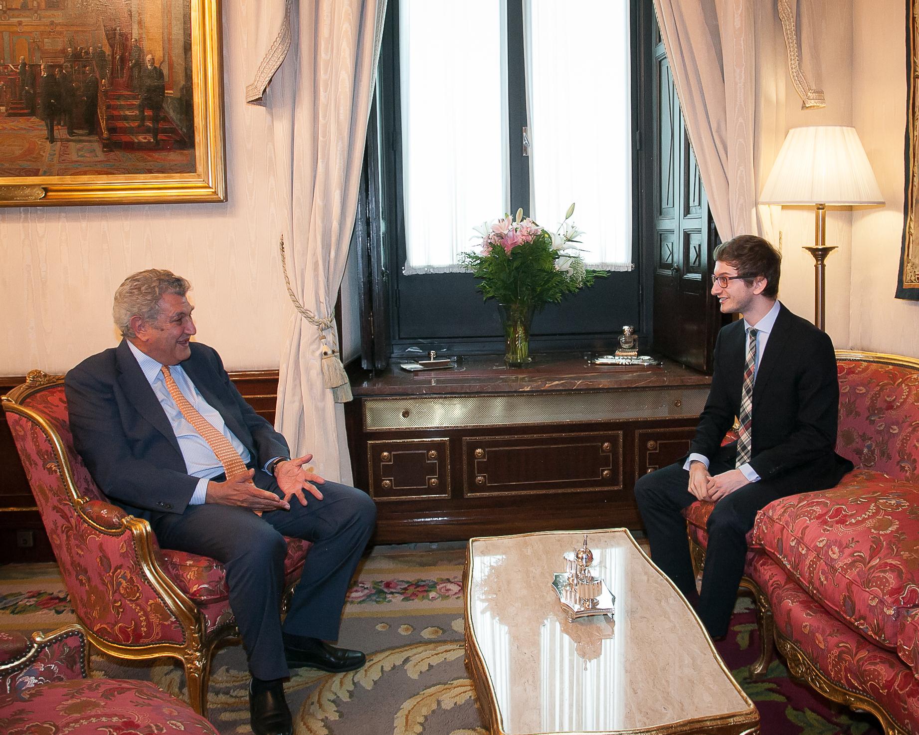 El Presidente del Congreso de los Diputados, durante la entrevista