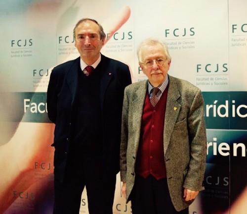 El director de la cátedra con el historiador Juan Pablo Fusi