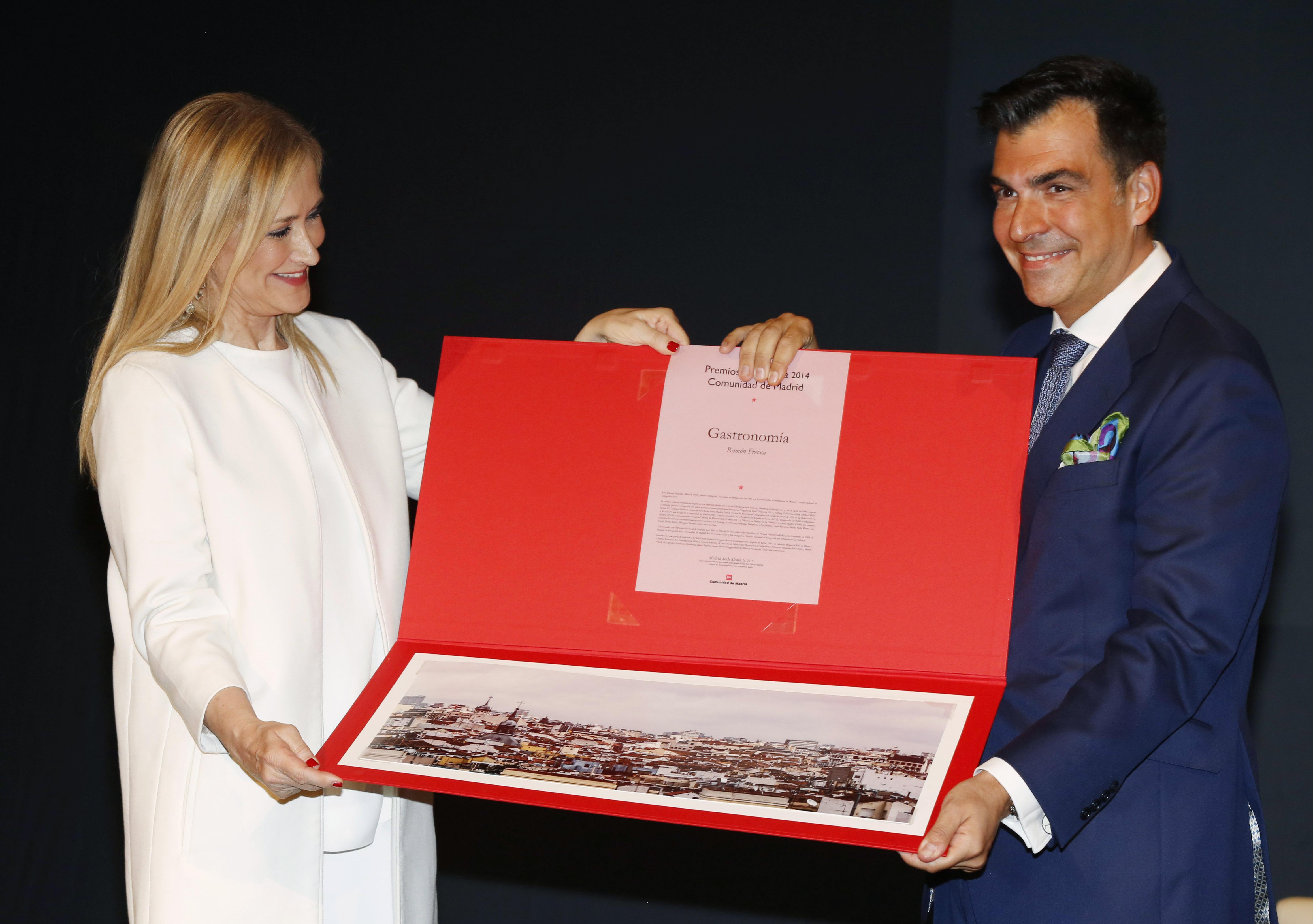 Ramon Freixa junto a Cristina Cifuentes