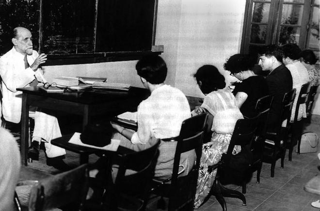Juan Ramón Jiménez imparte un curso en la Universidad de Puerto Rico